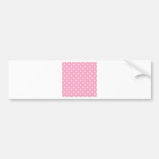 Polka Dots Large - Carnation Pink on Pale Pink Bumper Sticker