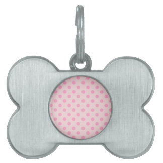 Polka Dots Large - Carnation Pink on Pale Pink Pet Tags
