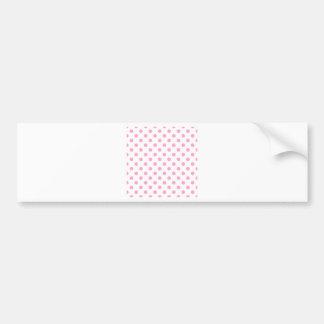 Polka Dots Large - Carnation Pink on White Bumper Sticker