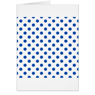 Polka Dots Large - Cobalt on White Card