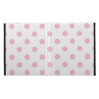 Polka Dots Large - Cotton Candy on White iPad Folio Covers