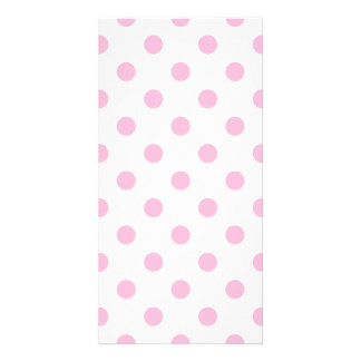 Polka Dots Large - Cotton Candy on White Photo Greeting Card