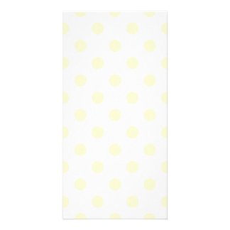 Polka Dots Large - Cream on White Photo Card