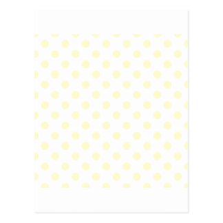 Polka Dots Large - Cream on White Postcard