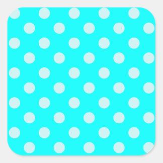 Polka Dots Large - Cyan 2b Square Sticker