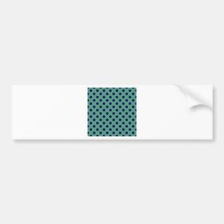 Polka Dots Large - Dark Blue on Light Green Bumper Stickers