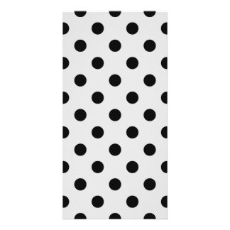 Polka Dots Large - Dark Gray on Light Gray Card