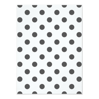 Polka Dots Large - Dark Gray on White 5.5x7.5 Paper Invitation Card
