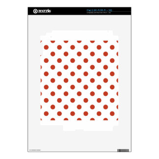 Polka Dots Large - Dark Pastel Red on White Skin For The iPad 2