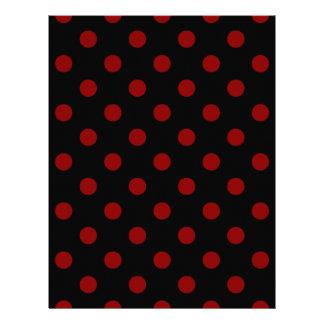 Polka Dots Large - Dark Red on Black Letterhead