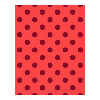 Polka Dots Large - Dark Red on Light Red Letterhead
