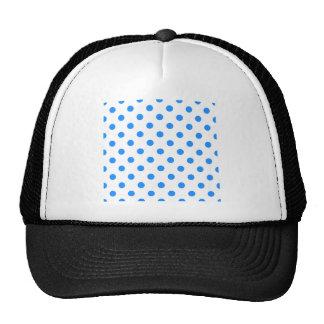 Polka Dots Large - Dodger Blue on White Trucker Hat