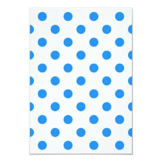 Polka Dots Large - Dodger Blue on White 3.5x5 Paper Invitation Card