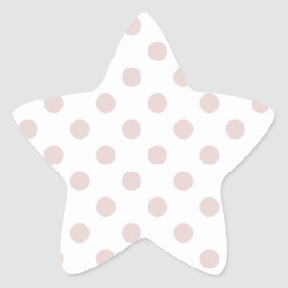 Polka Dots Large - Dust Storm on White Star Sticker
