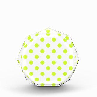 Polka Dots Large - Fluorescent Yellow on White Award