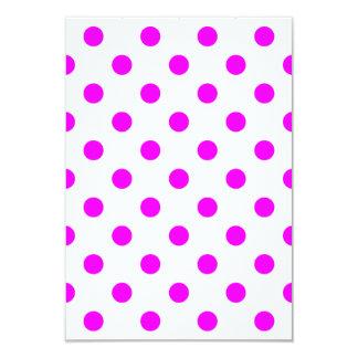 Polka Dots Large - Fuchsia on White 3.5x5 Paper Invitation Card