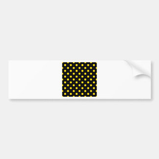 Polka Dots Large - Golden Yellow on Black Bumper Sticker