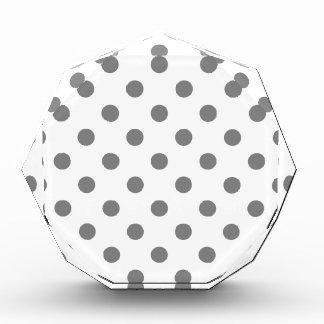 Polka Dots Large - Gray on White Acrylic Award
