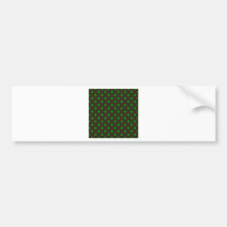 Polka Dots Large - Green on Brown Bumper Sticker