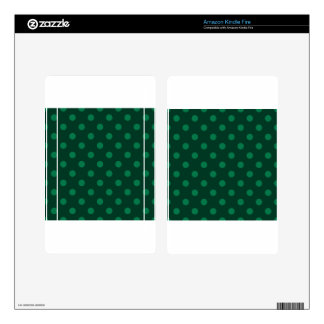 Polka Dots Large - Green on Dark Green Kindle Fire Decal