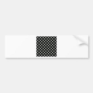 Polka Dots Large - Honeydew on Black Car Bumper Sticker