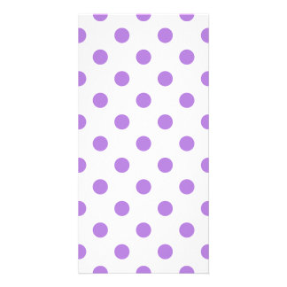 Polka Dots Large - Lavender on White Photo Card