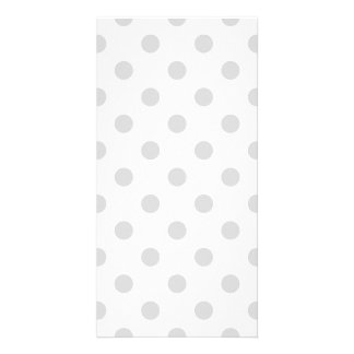 Polka Dots Large - Light Gray on White Card