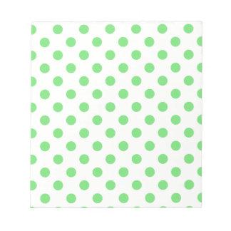 Polka Dots Large - Light Green on Light Yellow Notepad