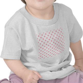 Polka Dots Large - Light Pink on White Tee Shirt