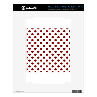 Polka Dots Large - Maroon on White Skins For The NOOK