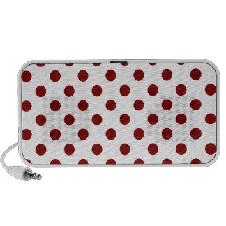 Polka Dots Large - Maroon on White Travel Speaker