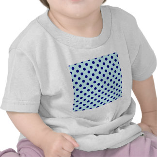 Polka Dots Large - Navy Blue on Pale Blue Shirts