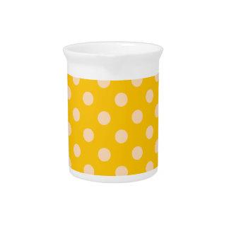 Polka Dots Large - Orange 2a Pitcher