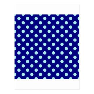 Polka Dots Large - Pale Blue on Navy Blue Postcard