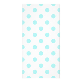 Polka Dots Large - Pale Blue on White Photo Card