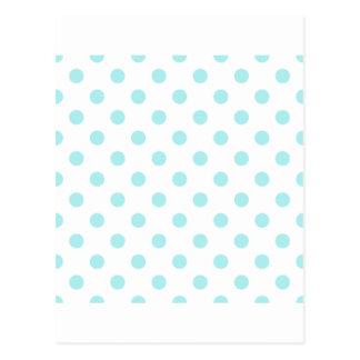 Polka Dots Large - Pale Blue on White Postcard