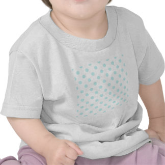 Polka Dots Large - Pale Blue on White Tshirts