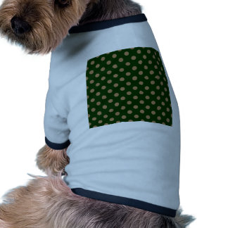 Polka Dots Large - Pale Brown on Dark Green Dog Clothes