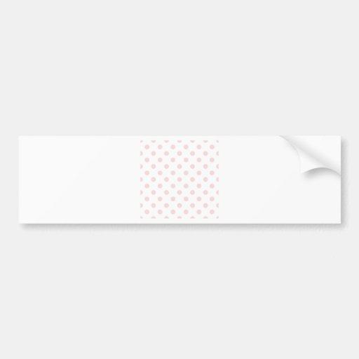 Polka Dots Large - Pale Pink on White Car Bumper Sticker