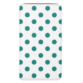 Polka Dots Large - Pine Green on White