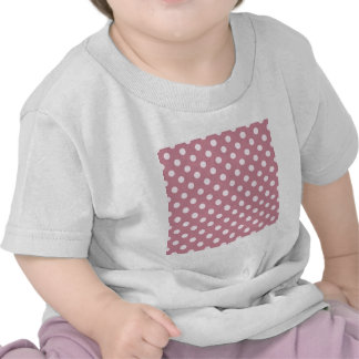 Polka Dots Large - Pink Lace on Puce Shirts