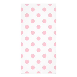 Polka Dots Large - Pink on White Photo Card