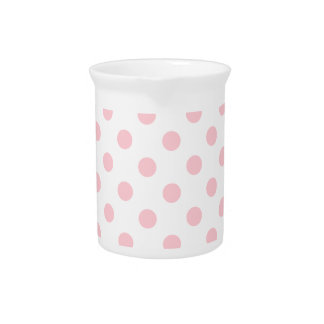 Polka Dots Large - Pink on White Drink Pitchers