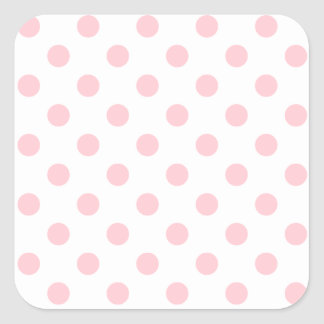 Polka Dots Large - Pink on White Stickers