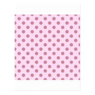 Polka Dots Large - Puce on Pink Lace Postcard