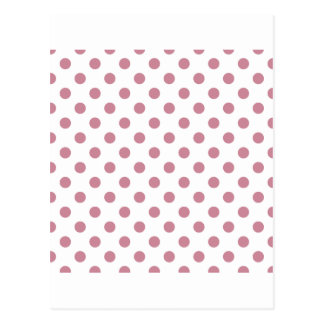Polka Dots Large - Puce on White Postcard