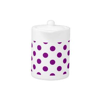 Polka Dots Large - Purple on White