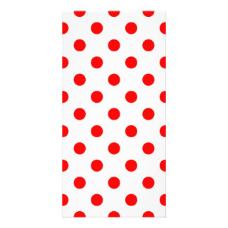 Polka Dots Large - Red on White Photo Card