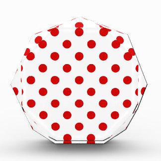 Polka Dots Large - Rosso Corsa on White Acrylic Award