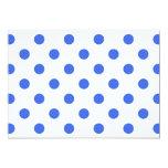 Polka Dots Large - Royal Blue on White 5x7 Paper Invitation Card